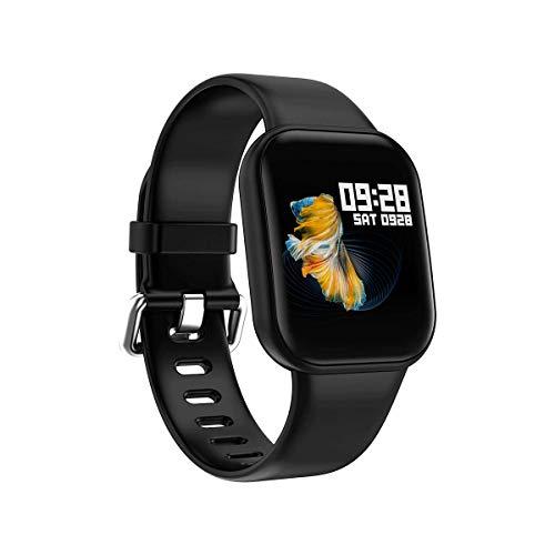 POAE Pulsera Inteligente Silicona Salud Medición de frecuencia cardíaca a Prueba de Agua Reloj Deportivo Bluetooth Soporte Varios Sistemas Android de Apple-Black