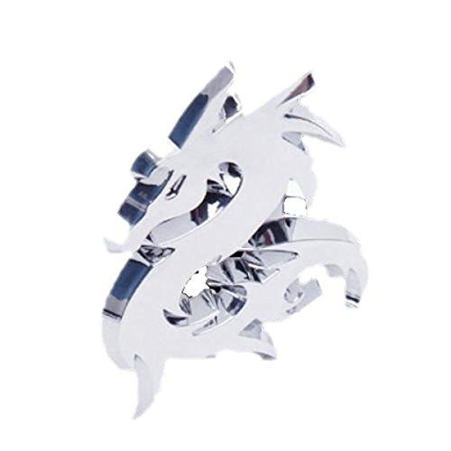 SODIAL 3D Dragon Embleme de Voiture Autocollant d'insigne - d'Argent