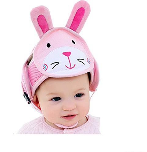 Hillento Casco de Seguridad bebé, niño Infantiles niños Anti-colisión Cabeza Tapa Protectora, arneses Ajustables Protector de Cabeza no cojín protuberancias Cabeza, Conejo