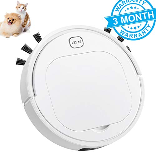 Best Review Of GJF Robot Vacuum Cleaner Pet Hair, One Button Operation,Wet and Dry Dual Purpose,1800...