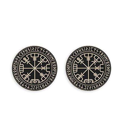 Black Celtic Viking Design Fridge Magnets Multifunction Button with Beer Bottle Opener