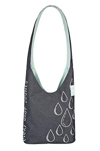 LÄSSIG Shopper Einkaufsshopper Einkaufstasche Umhängetasche/Green label Charity Shoper Ecoya, anthracite misty jade
