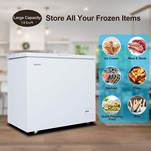 Galanz GLF70CWED01 Chest Freezer, White