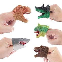 4. Auch Realistic Dinosaur Finger Puppets (5pcs)