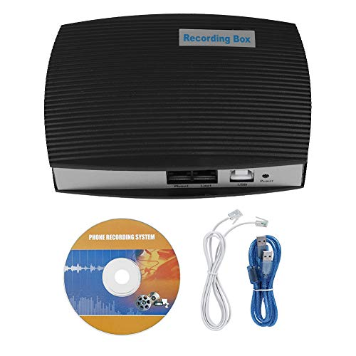 Zhjvihx Caja de grabación telefónica, Caja de grabación USB Teléfono Fijo para ferrocarril de aviación para teléfono Comercial para Servicio de línea Directa Teléfono para Alarma de Seguridad