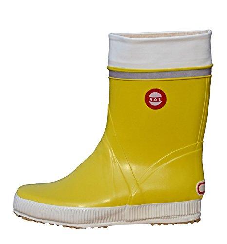 Nokian Footwear Hai - Wadenhohe Gummistiefel für Damen und Herren, handgefertigt aus Naturkautschukmischung, 37 EU, Yellow
