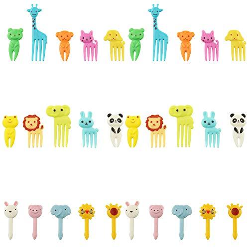 Tegg Food Pick 30PCS Cute Animal Bento Decoration Food Picks Forks Skewer For Lunch Box Mini Cartoon Toothpick