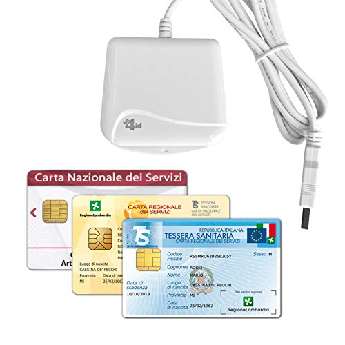 Bit4id INTERNAVIGARE Lettore di Smart Card USB 2.0 per CRS - Firma Digitale e Altre Cards