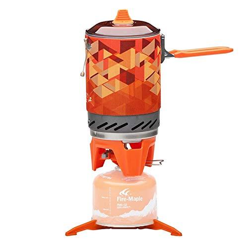 Quemador de Estufa de Gas al Aire Libre, Sistema de Cocina portátil turístico con intercambiador de Calor, Olla FMS-X2, Cocina de Gas para Acampar y Senderismo