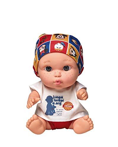 Juegaterapia Muñeco Baby Pelón, Diseñado por Disney, Juguete Solidario con Olor a Vainilla - 20 x 10 x 20cm