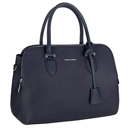 David Jones - Bolso de Mano Bugatti Mujer - Señora Tote Bag Cuero Genuino PU - Bolso de Hombro Bandolera Múltiples Bolsillos Cremallera - Shopper Asas Piel Trabajo Diario Elegante Moda - Azul Oscuro