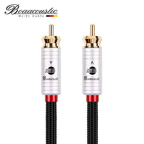 JIB Boaacoustic BlackBerry 4N OFC Subwoofer Kabel, vergoldete Cinch Stecker (1M 1 STK/Set)