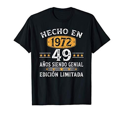 49 Años Cumpleaños Regalo Para Hombre Mujer Hecho En 1972 Camiseta