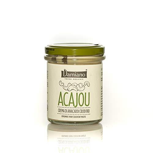 Crema Spalmabile di Anacardi Crudi, 100% Biologici - Senza Glutine e Vegan Friendly - Vasetto da 180g
