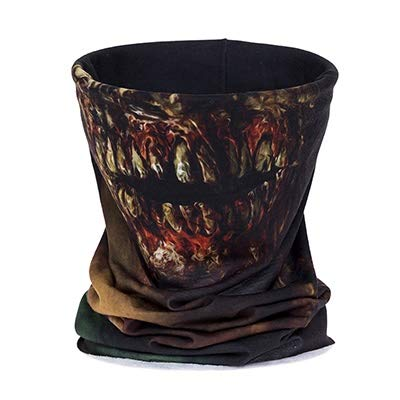 Starry Sky dames en heren jurken met cartoon-gezicht, 3D, meerdere sjaals, om te binden aan paard, sjaals, geselecteerde bandages (kleur: Zombie Face)