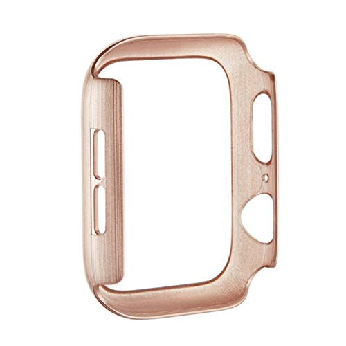 2 Stks,Apple Horloge Screen Protector Serie 1/2/3, PC Ultra-Thin iWatch Case 38/42 mm, Robuuste Scratch-Proof Cover voor Smartwatch, Rose Gold 42mm