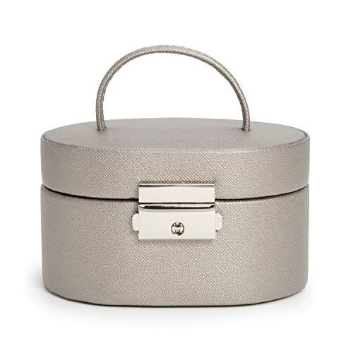 WOLF Heritage Mini-Box, oval, Zinn, Saffiano