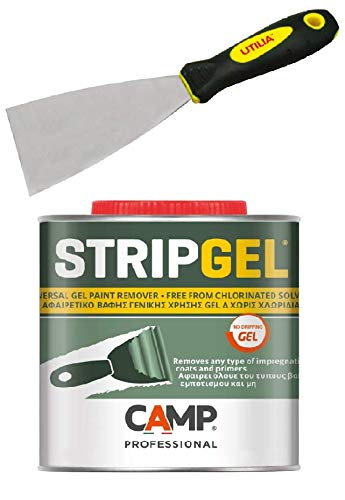 Camp STRIP GEL, Sverniciatore professionale in gel per legno, ferro e muro con Spatola 60mm