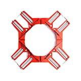 HEWEGO Angle Clamp, 4PCS 90 Degree Corner Clamp, Multifunctional Picture Framing Holder, Woodworking Hand Tools (red)