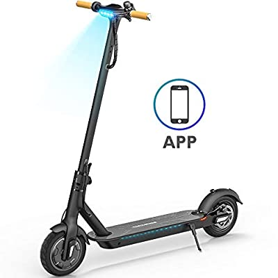 TOMOLOO Foldable Electric Scooters 8.5'' Tire Lightweight Smart Scooters with UL2272 Certified for Battery Protection(Black)