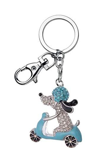 Ten Blue Sprint Dog Schlüsselanhänger mit Glitzer cod.EL7617 cm 13x5x1h by Varotto & Co.