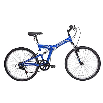 Murtisol Folding Mountain Bikes 26'' Foldable Bikes with Softtail Full Suspension & Designed Folding Fork & Adjustable Seat & 7 Speeds Derailleur
