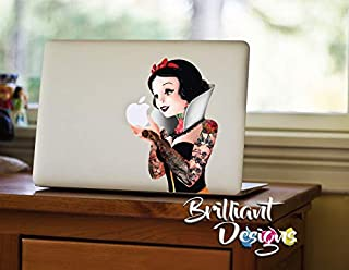 Snow White Tattoo, MacBook Decals, Stickers, Laptop Skins,Disney Princess, Gift (MacBook pro 13
