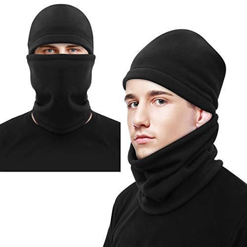 CLISPEED Winter Sturmhaube Fleece Skimaske Gesichtsmaske für Herren Damen (Schwarz)