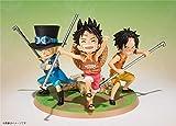 SZSOZD 2017 Kawaii F Zero Anime One Piece 9cm 3pcs / Set Luffy & Ace & Sabo 3 Brother PVC Figura de ...