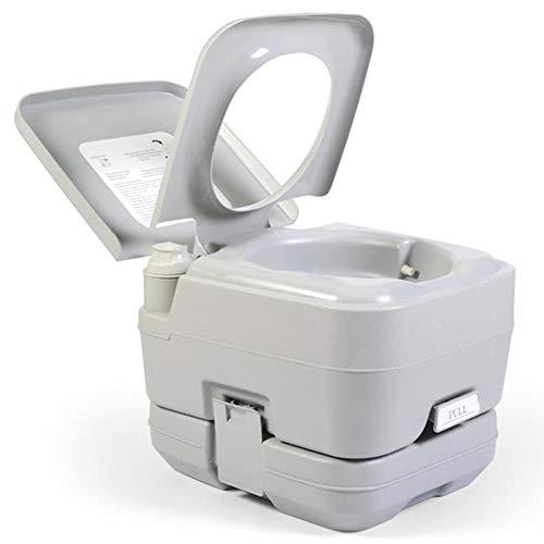 Yunjie Inodoro Portátil WC Quimico 10L Vater baño con Bomba de Pistón...