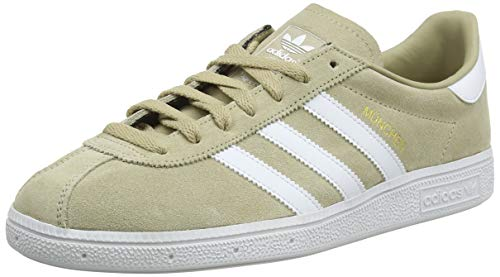 adidas Men's München Low-Top Sneakers, Yellow (Oronat/Ftwbla/Dormet 000), 7.5 UK