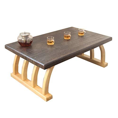 Tables Balcon Bay Bay De Piano Salle D'étude Salon Basse De Ménage Tatami Basses (Color : Brown, Size : 60 * 40 * 30cm)