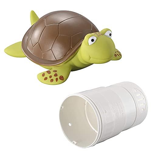 Turtle Schwimmender Pool Chlorspender Schwimmbad Chlor Schwimmer,Chlortabletten,Tierpool-Chlorspender,Chemikalien Spender Poolzubehör für Schwimmbad, Brunnen, Whirlpool, Innen- & Außenpools (A)