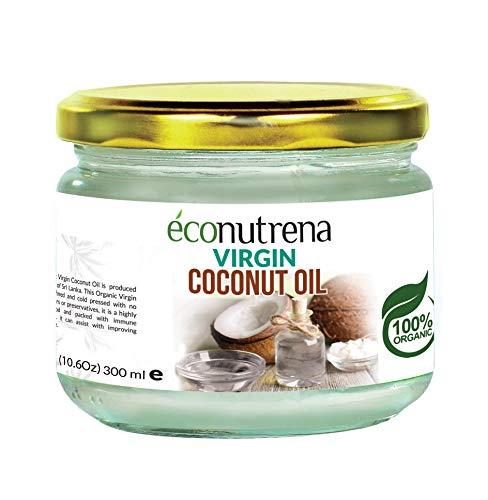 Organic Virgin Coconut Oil - Single Item Glass Jar 300ml ( 10.1 fl oz)