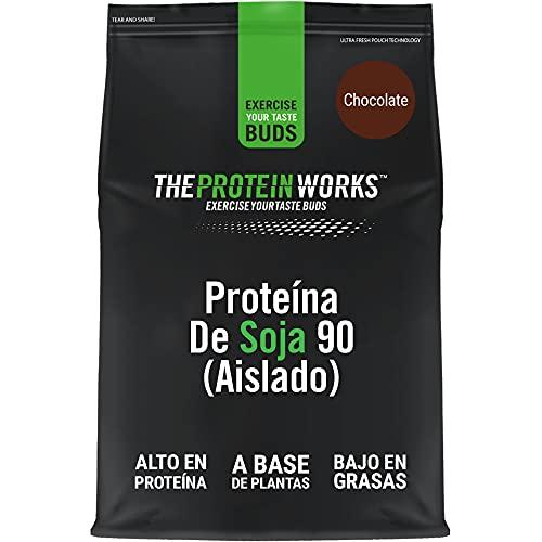Proteína De Soja 90 (Aislado) | 100% Vegano, Procedente De Fuentes Sostenibles, Bajo En Grasas, Sin Azúcares Añadidos , Sin Gluten | THE PROTEIN WORKS, Chocolate Suave, 500g