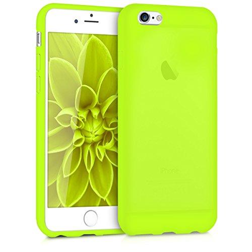 kwmobile Coque Compatible avec Apple iPhone 6 / 6S - Coque Housse Protectrice pour Téléphone en Silicone Jaune Fluo
