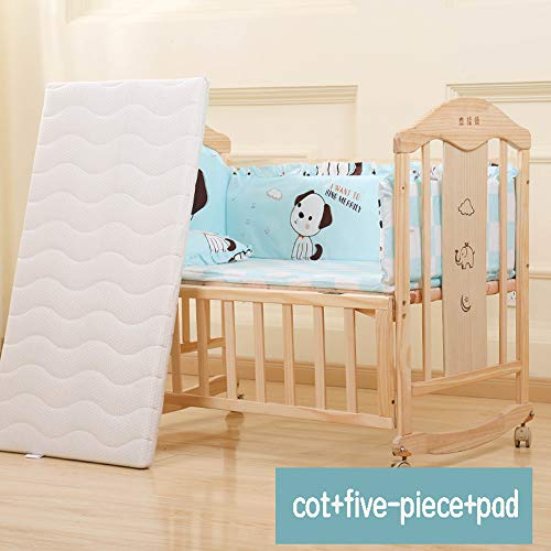 Why Choose Dzhyy Children's Bed, Multifunctional Crib Game Newborn Bed Can Be Spliced Baby Cot,US Co...