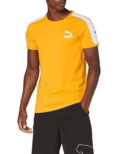 PUMA Iconic T7 Slim tee Camiseta, Hombre, Golden Rod, S