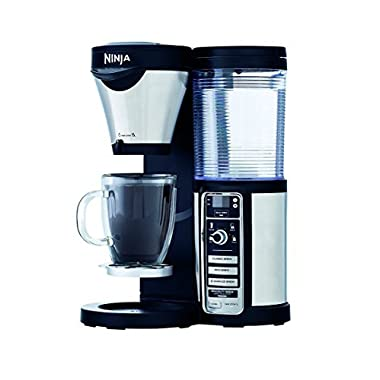 Ninja Coffee Maker, Bar Brewer Style with 4 Brew Size Options, From Single Cup to 10 Cup Stainless Steel Carafe, and 4 Brew Styles Including Hot or Iced Specialty Coffees