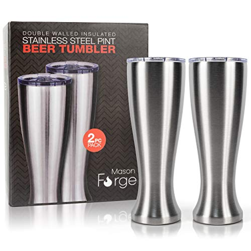 Mason Forge   Stainless Steel Pint Double Insulated Beer Tumbler...