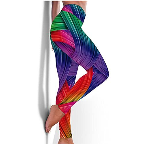 ArcherWlh Yoga Pantalones,Nuevos Pantalones de Yoga Femenina Europea y Americana Medias rápidas Caderas Deportes Aptitud Pantalones 3D impresión de yoga-Yjck-20_SG