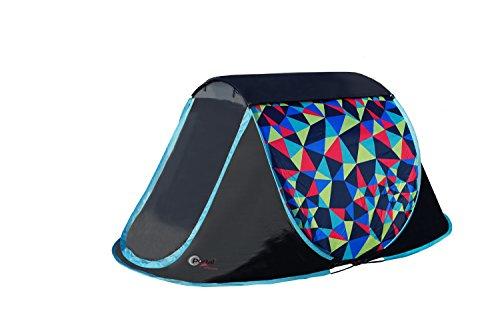 Portal Outdoor Trance 2 Lichtgewicht Festival Camping Tent, 100% Waterdicht, Glasvezel Polen, Ingenaaid Grondblad, Grote Deur en Gratis Opbergtas