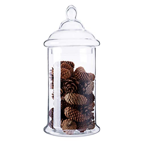 Decorative Clear Glass Jars With Lids  from m.media-amazon.com