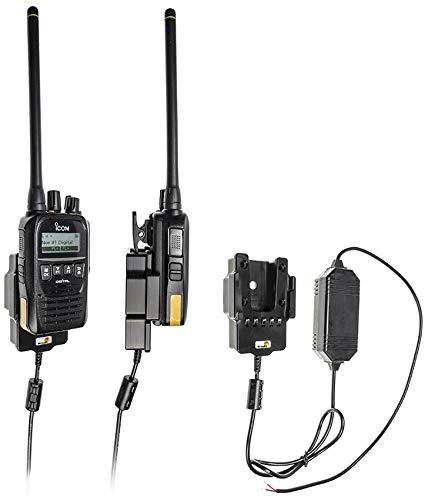 Brodit Soporte para Dispositivos 732024, Fabricado en Suecia con función de Carga para Dispositivos inalámbricos ICOM IC-F52D, IC-F62D