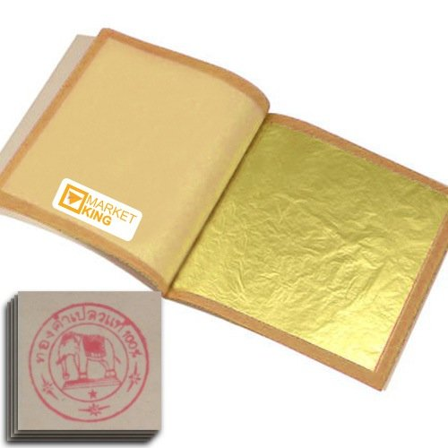 Edible Gold Leaf, Gold Foil, Size Xx-large 50 Pc 24 Karat 5x5cm. For Cooking Art NEW Genuine Authentic for Foods, Cakes & Chocolates, Decoration, Health & Beauty, Home Arts & Crafts, Metal Working, Marketking Brand