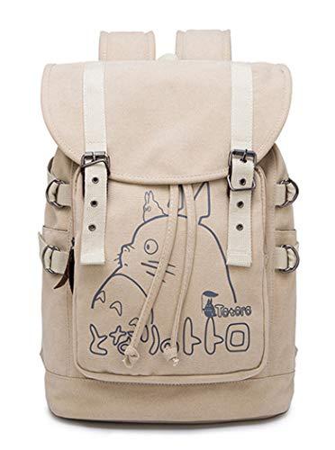 WANHONGYUE My Neighbor Totoro Anime Drawstring Backpack Bolso de Escuela Rucksack Bolsa de Lona Mochila de Viaje
