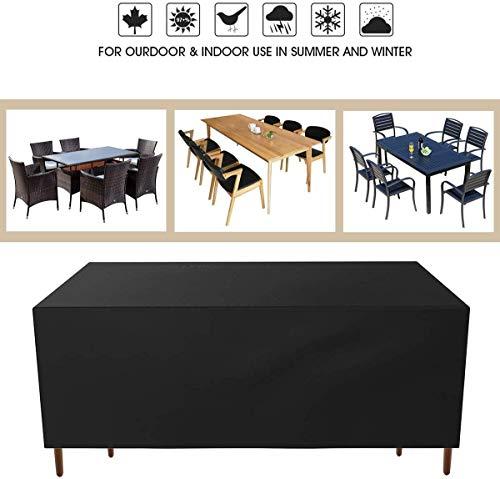 Ankier Garden Furniture Covers – 170x94x70cm Waterproof, Windproof, Anti-UV and Heavy Duty 420D Oxford Fabric Rattan…