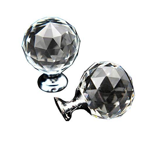 Keramische handgreep kastje lade trekken is geometrische diamantvorm 10 25 mm ronde transparante kristallen bol glazen handvat kaptafel knoop ritssluiting schroef goud/zilver basis geschikt