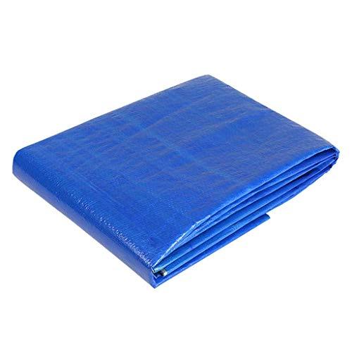 ASKLKD Tarpualin Bungees, Blaue Wasserdichte Planen-Boden-Blatt-Abdeckungen For Das Kampieren/Fischen/Gartenarbeit/Haustiere (Size : 4mx10m(13ftx32.8ft))