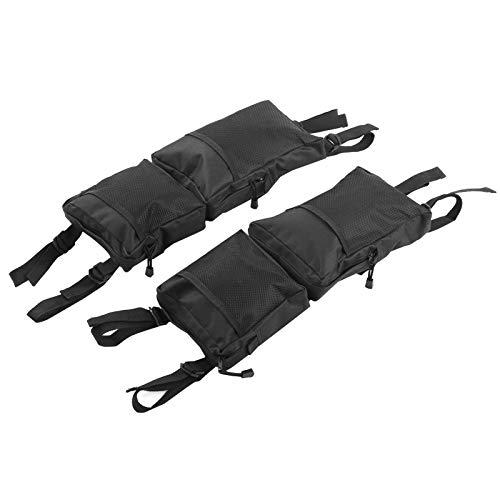 Yivibe 2pcs Bolsa de sillín ATV para Herramientas de Almacenamiento de Motos de Nieve, Bolsa de Almacenamiento Trasera, para Montar al Aire Libre